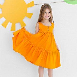 Сарафан Количество в упаковке: 1; Артикул: BN-133Л21-161; Цвет: Оранжевый; Ткань: Кулирка; Состав: 100% Хлопок; Цвет: Оранжевый Скачать таблицу размеров