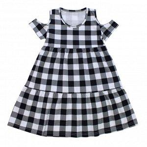 Платье Милое летнее платье. Материал: 100% хлопок, кулирка Размеры: 30, 32, 34, 36 Цвет - Черный