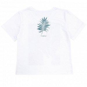 Футболка Стильная футболка для девочек. Принт на спине. Материал: 100% хлопок, кулирка пенье Размеры: 34, 36, 38, 40, 42 Цвет - Белый