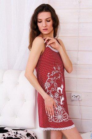 Сорочка женская СЖ19, цвет красный, размеры 42-54