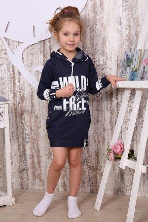 Туника для девочки ТНД4 , цвет джинс, размеры 32-36