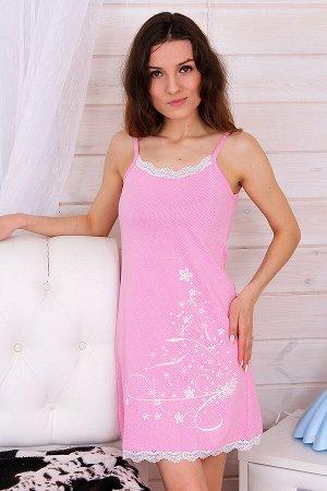 Сорочка женская Диана, цвет розовый, размеры 42-52