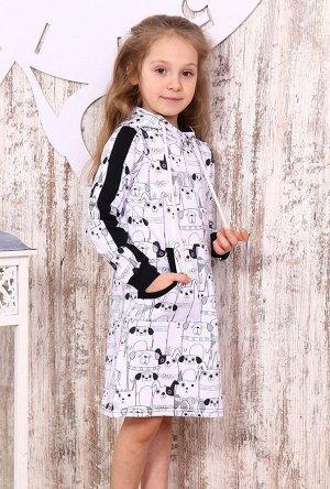 Туника для девочки ТНД9 , цвет белый, размеры 28-38