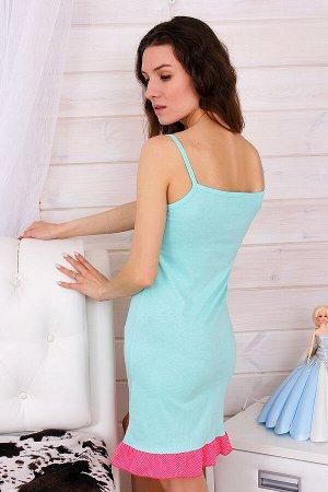 Сорочка женская СЖ24, цвет бирюза, размеры 42-52