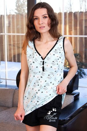 Пижама ПЖ33, цвет бирюза, размеры 50,52