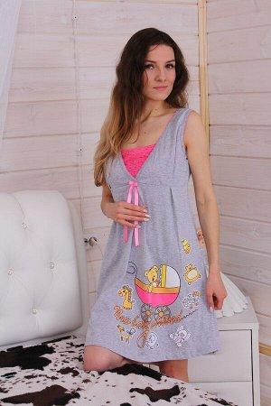 Сорочка женская Каролина, цвет серый, размеры 42-52