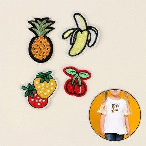 Набор термоаппликаций «Ананас, клубника, вишня, банан», 4шт