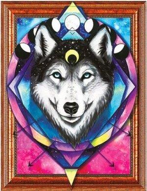 Алмазная мозаика 3D Лунный волк