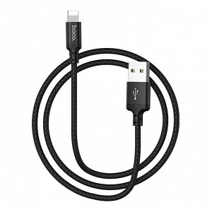 "Кабель HOCO USB на Lightning ""X14 Times speed"" 1M зарядка и передача данных"