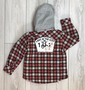 Куртка детская красная клетка