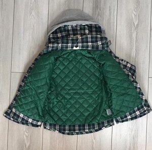 Куртка детская зеленая клетка