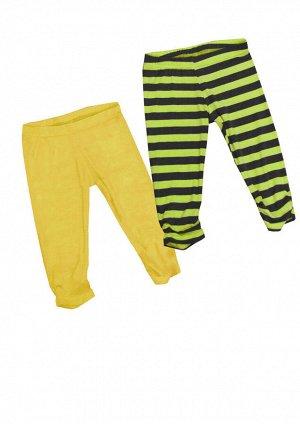 Брюки. Цвет: Желтый/Яблоко-черная полоска