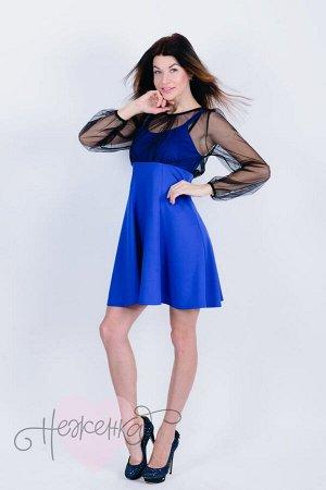 Платье П 674 (васильковый)