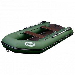 Надувная лодка FLINC FT320L, цвет оливковый