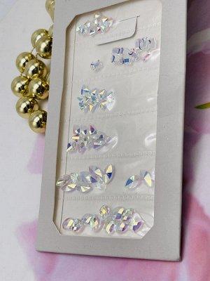 Камни в полоску для объемного дизайна hot fix flat back, trendy ( по размерам) SS1-Ss6 1440 шт .