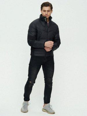 Пуховик еврозима Valianly черного цвета 92107Ch