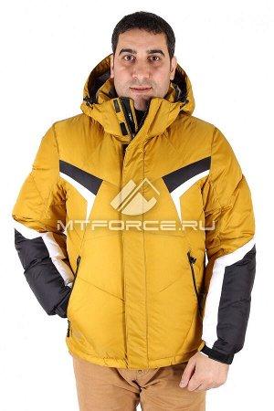 Куртка зимняя мужская горчичного цвета 9440G