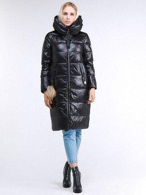 Куртка зимняя женская молодежноечерного цвета 9175Ch