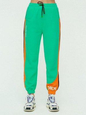 Штаны джоггеры женские зеленого цвета 1309Z