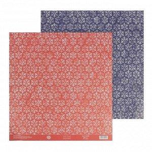Бумага для скрапбукинга «Снежинки», 30,5  ? 32 см, 180 г/м