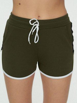 Спортивные шорты женские хаки цвета 3019Kh