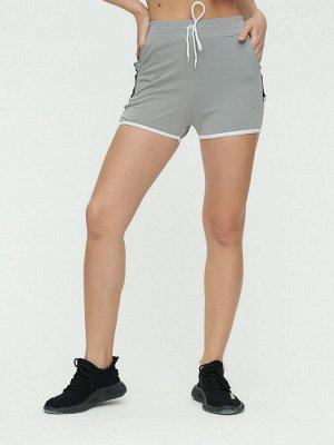 Спортивные шорты женские серого цвета 3019Sr