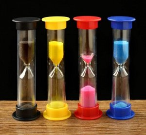 Песочные часы на 3 минуты, 9 см, цвет микс