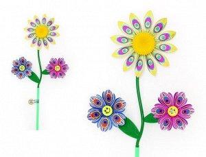 """Ветерок """"Star Team"""" высота 59 см.,цветы d=15 см,d=10 см"""