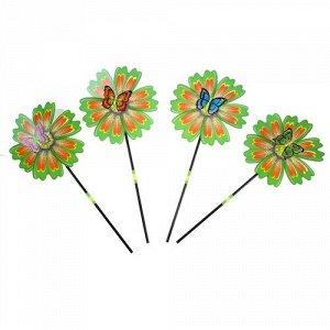 """Ветерок """"Цветочек с бабочкой""""  микс ,25 см"""