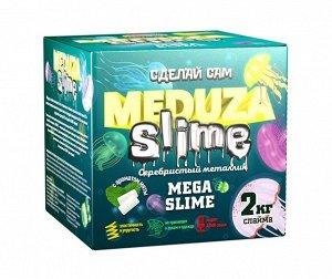 Набор Юный Химик Медуза слайм Серебристый металлик ,12*12*12 см