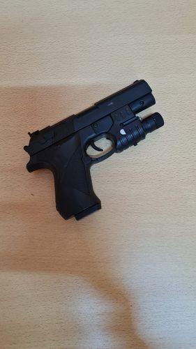 Пистолет мех лазерн прицел пакет 16*11см