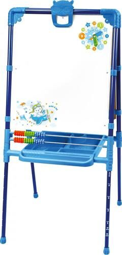 Мольберт растущий д/детей со счетами, высота 74-107см цв. синий