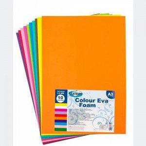Набор декоративной бумаги для аппликаций EVA, А3, 10 цв.