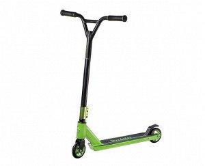 """Самокат 2-кол. """"Slider"""" колеса PU,100 мм, 50% AL,50% steel, высота руля 84,5 см ,ABEC-7,цв. зеленый"""