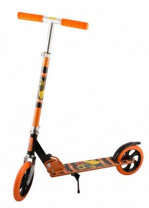 Самокат 2-х колесный ,колеса PU 20 см, 85*34,5*88,5-102,5 см, цв. оранжевый