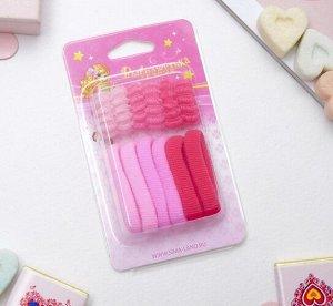Набор резинок для волос 12 шт. Махрушка , розовые