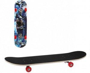 Скейтборд 80*20 см. колеса PVC