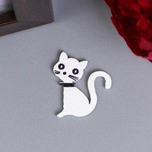 """Декор для творчества дерево """"Кошки чёрные и белые"""" набор 10 шт 2,5х2,5 см"""
