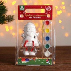 Фигурка под роспись со светом «Дед Мороз», краска 5 цв по 2 мл, кисть