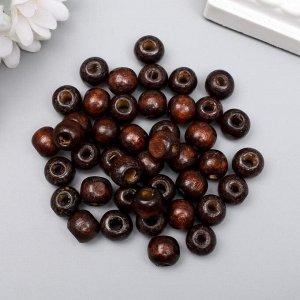 """Бусины для творчества дерево """"Кофе"""" набор 30 гр 1х1 см"""