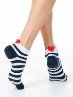 Active  Короткие хлопковые носки с пикотом-«сердечком» ХИТ ПРОДАЖ!