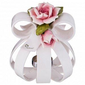 Подсвечник 'розы' диаметр=21 см. высота=24 см.