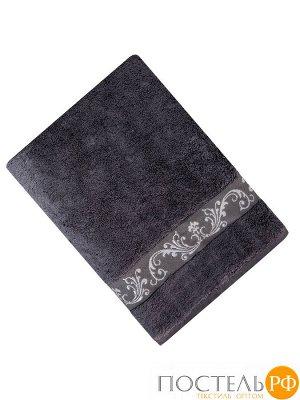 ШАНТАЛЬ 70*140 т-серое   полотенце махровое