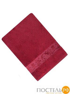 ШАНТАЛЬ 70*140 бордо   полотенце махровое