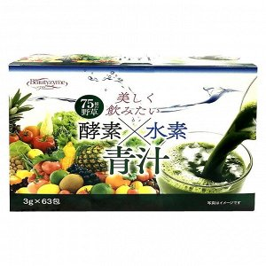 Аодзиру 100% порошок из молодых побегов ячменя +экстракты 752 овощей и фруктов, 1саше 3г