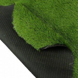 Газон искусственный. для спорта. ворс 40 мм. 2 ? 5 м. светло-зелёный
