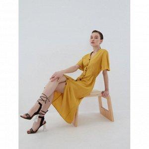 Платье женское горчица