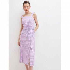 Платье женское сиреневый принт