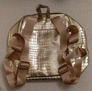 Золотой рюкзачок для девочки