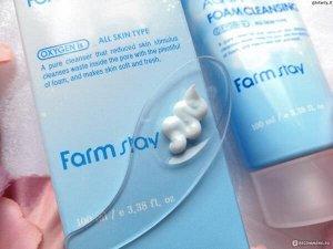 FARMSTAY Кислородная увлажняющая пенка для умывания O2 PREMIUM AQUA, 100мл